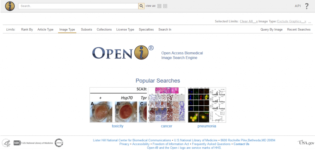 موتور جستجوی تصاویر پزشکی OpenI