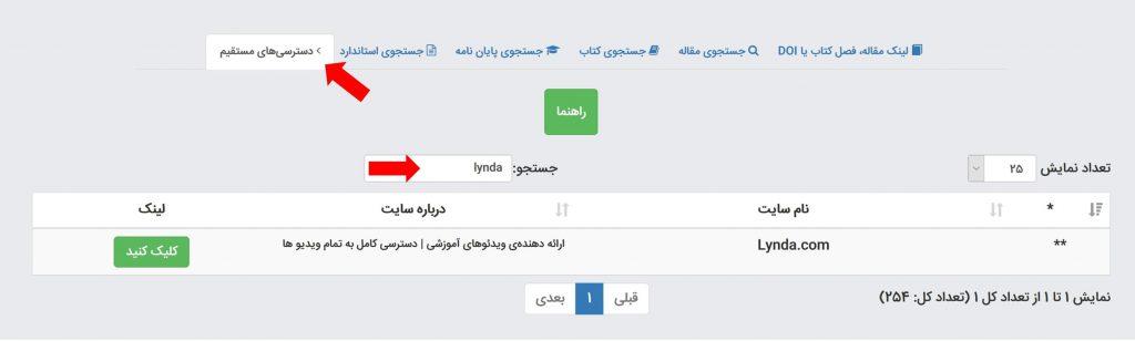 دسترسی آنلاین به لیندا
