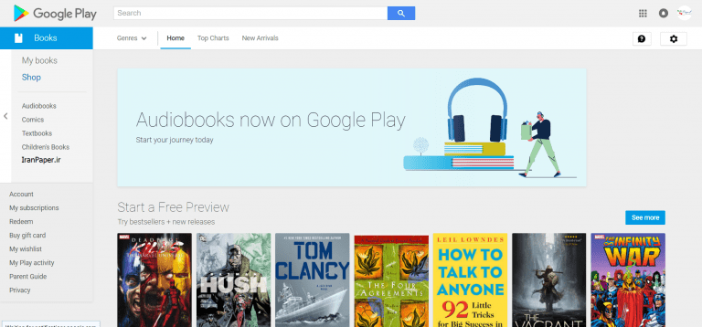 googleplay دانلود رایگان کتاب خارجی
