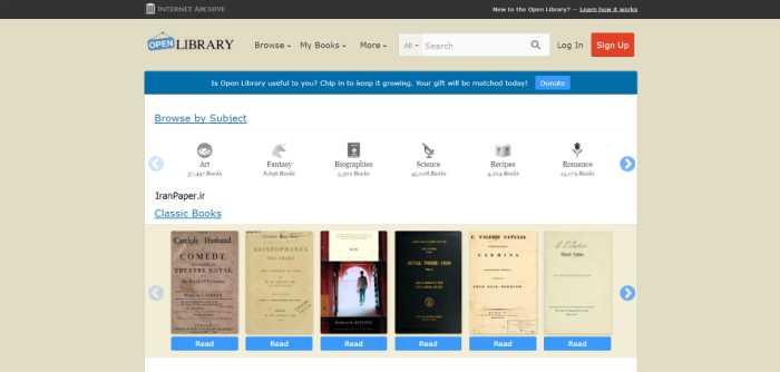 openlibrary دانلود رایگان کتاب خارجی